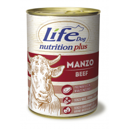 LifeDog Nutrition Plus 400 gr Beef - ЛайфДог 400 гр Ялови...