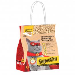 Наповнювач SuperCat Комкуючий, деревний, 2,1 кг