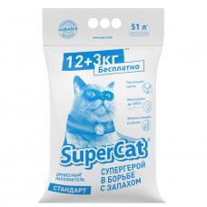 Наповнювач SuperCat СТАНДАРТ, деревний, 12+3 кг