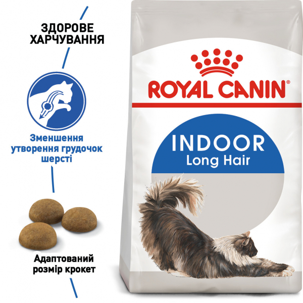 Корм для домашніх котів ROYAL CANIN INDOOR LONGHAIR